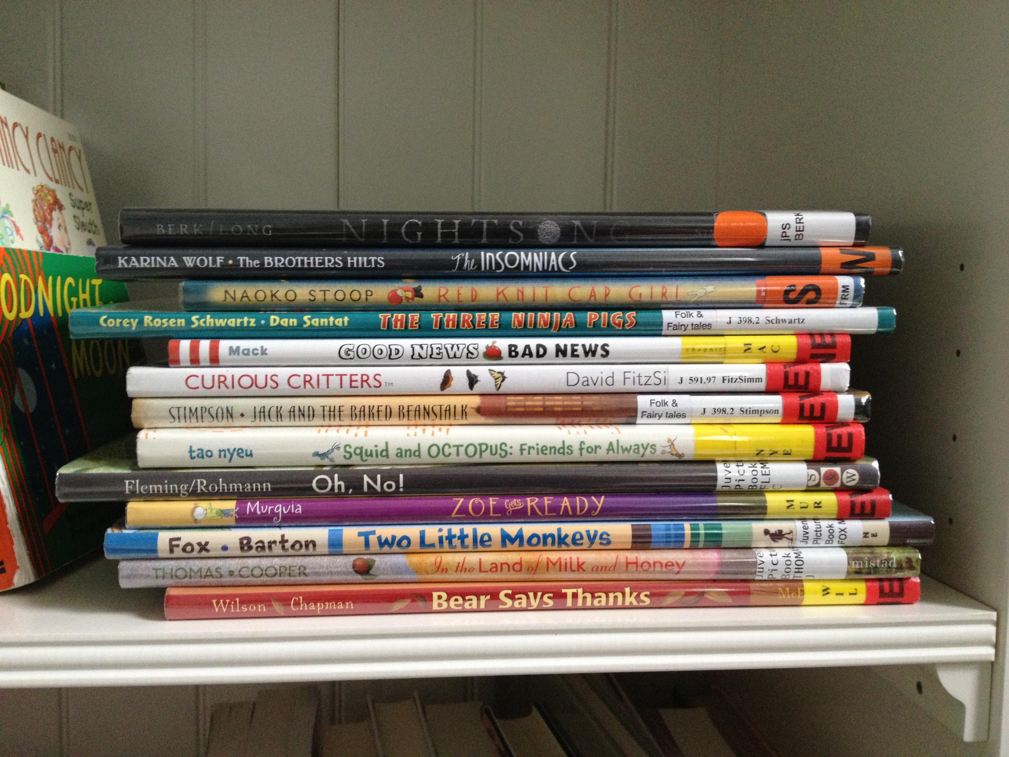 TBR Bookshelf Nov 2012