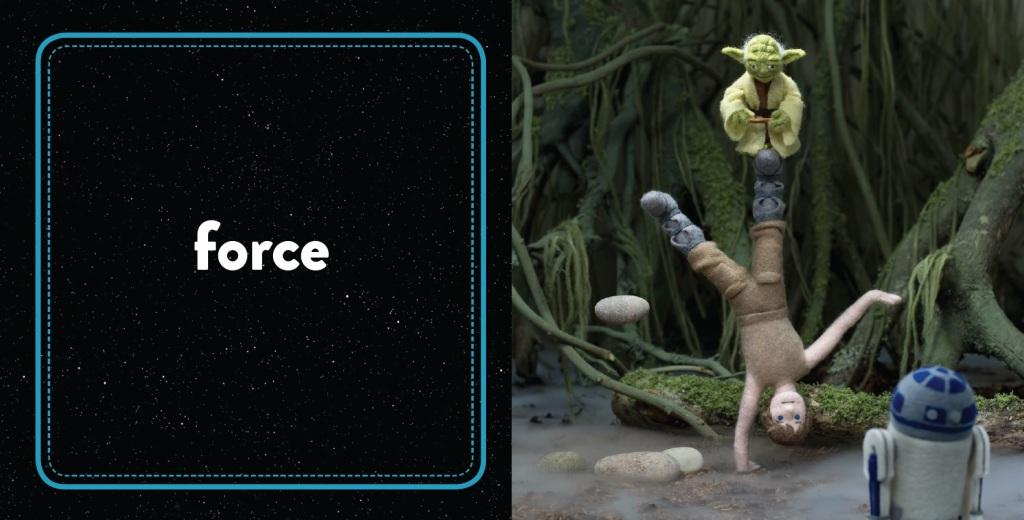 SW Epic Yarns_Empire Strikes Back_4_Force spread © & TM Lucasfilm Ltd.