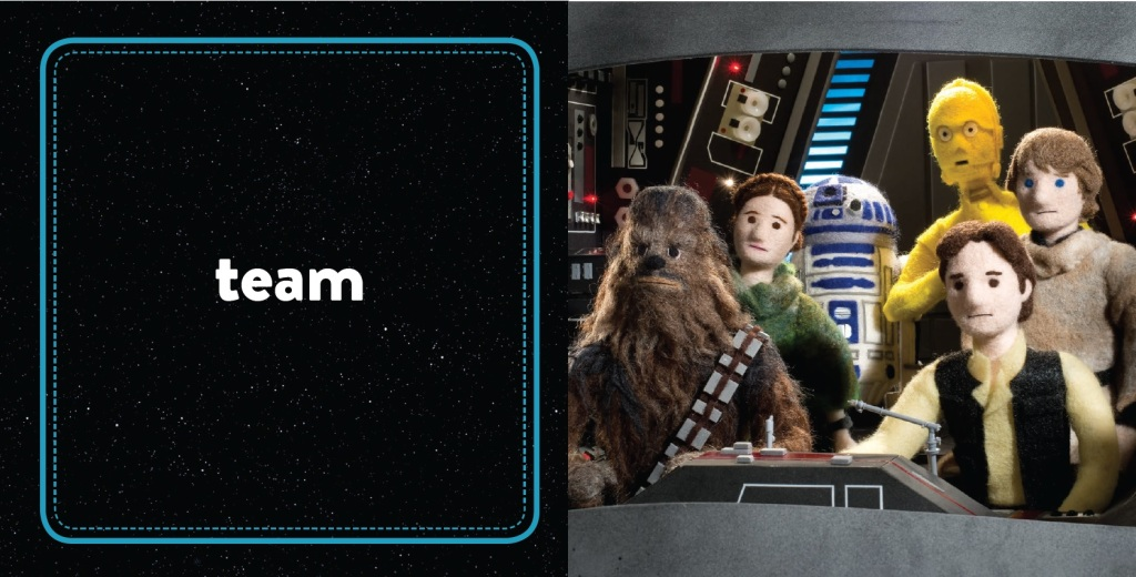 SW Epic Yarns_Return of the Jedi_Team spread © & TM Lucasfilm Ltd.